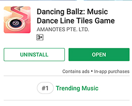 Dancing Ballz vào top 1 Trending Music